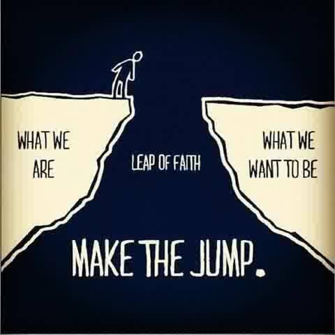 What we are what we want to be make the jump
