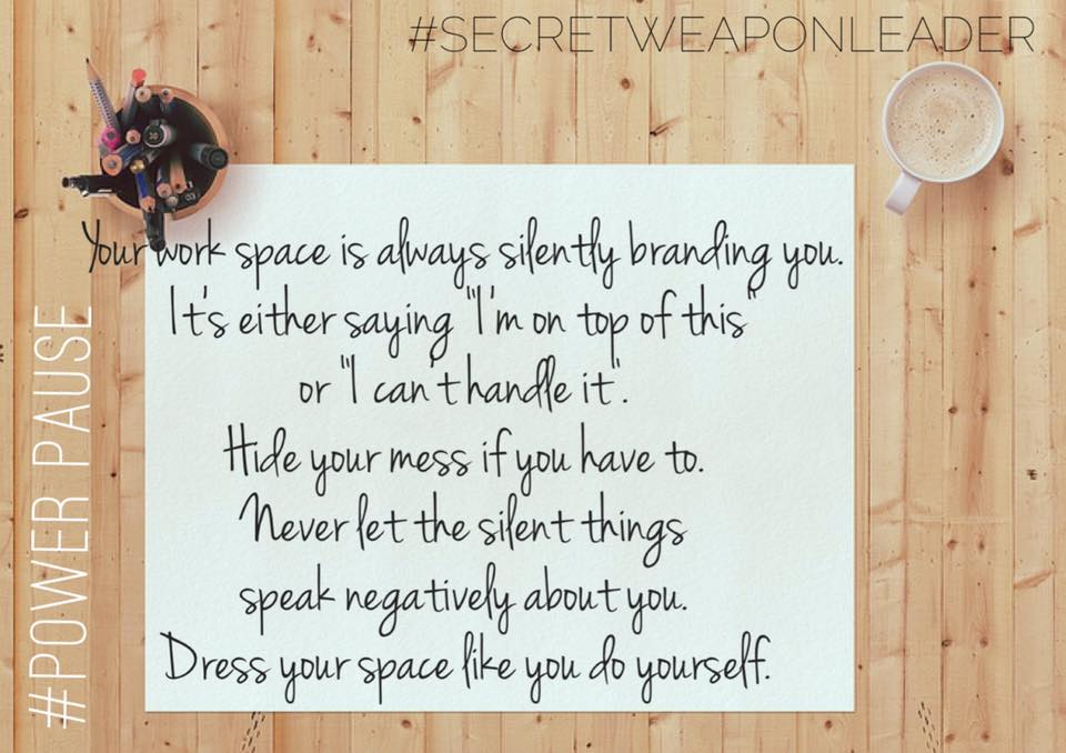 Your workspace is silently branding you