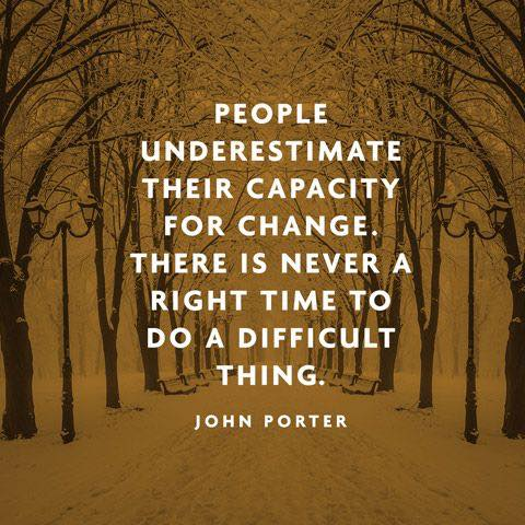 People underestimate their capacity for change
