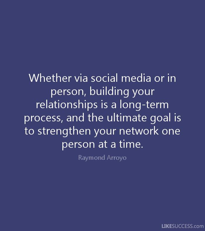 Strengthen your network one person at a time
